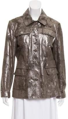 Tory Burch Metallic Long Sleeve Jacket