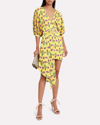 PatBO Floral Belted Asymmetric Dress