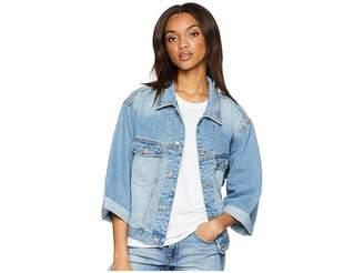 UNIONBAY Lottie Oversized Denim Jacket Women's Coat