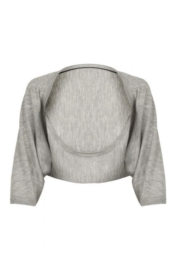 Amanda Wakeley Grey Cropped Cashmere Shrug