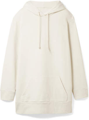 MM6 MAISON MARGIELA Oversized French Cotton-terry Hooded Top - Off-white