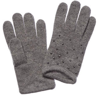 Portolano Cashmere Gloves With Rhinestones