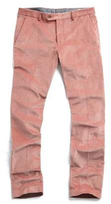 Todd Snyder Sutton Corduroy Trouser in Pink