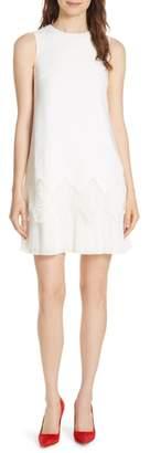 Ted Baker Pleat Lace Hem A-Line Dress