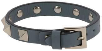 Valentino Garavani Jewel Rockstud Leather Bracelet With Studs