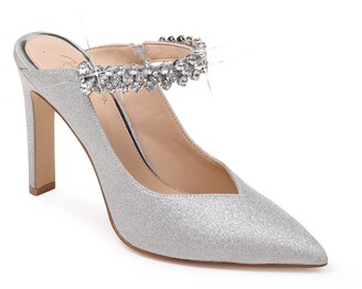 Badgley Mischka Stella Crystal Mule Pump