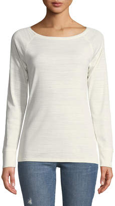 Lilla P Raglan-Sleeve Boat-Neck Pima Cotton Tee