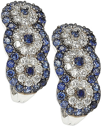 LeVian Suzy Diamonds Suzy 18K & Silver 1.52 Ct. Tw. Sapphire Earrings