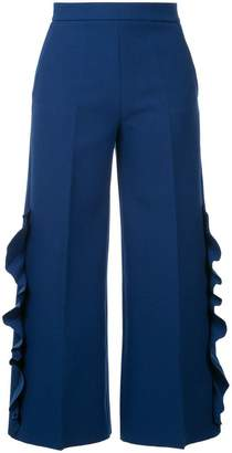 MSGM ruffle detail cropped trousers