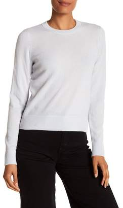 Vince Overlay Cashmere Crew Neck Sweater