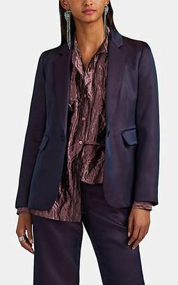 Sies Marjan Women's Mason Wool-Silk Tech-Satin Blazer - Dk. Purple