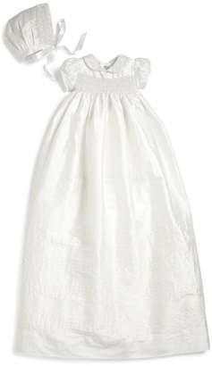 Isabel Garreton Baby's Two-Piece Silk Pearls Christening Gown & Bonnet Set