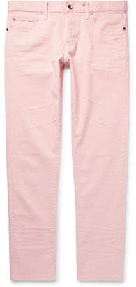 Todd Snyder Slim-Fit Garment-Dyed Stretch Cotton-Blend Trousers