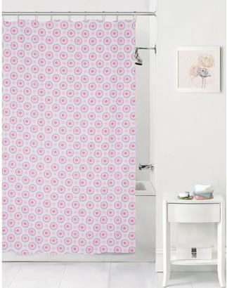 Mainstays Kids Pink Flower Coordinating Fabric Shower Curtain
