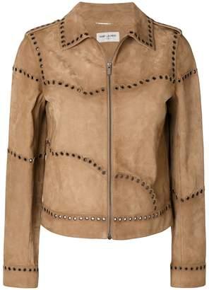Saint Laurent cropped eyelet jacket