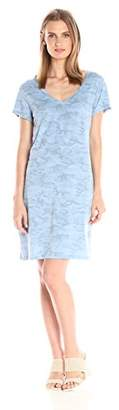 Michael Stars Women's Camo Print Short Sleeve Tee Dress