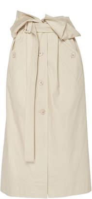 Jacquemus Belted Foldover Gabardine Midi Skirt
