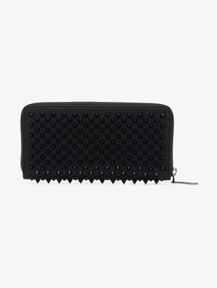 Christian Louboutin black Panettone spike embellished leather wallet