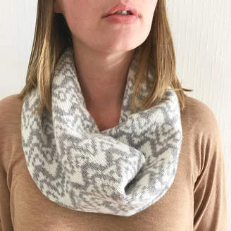 Little Knitted Stars Ladies Lambswool Knitted Snood With Big Waves Pattern
