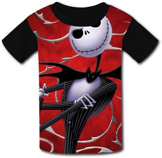 DicoYage Custom Nightmare-Before-Christmas Boys Girls Teenager Tee Shirt Children Youth T-shirts