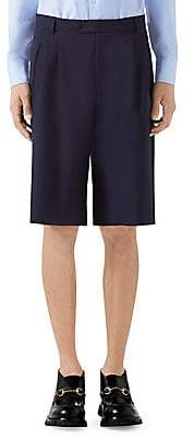 Gucci Men's Wool Shorts with Pleats
