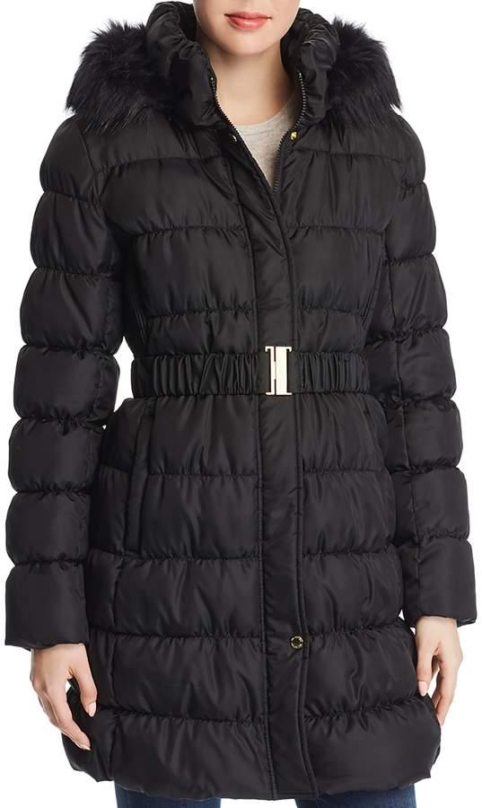 Pillow Collar Ruched Puffer Coat