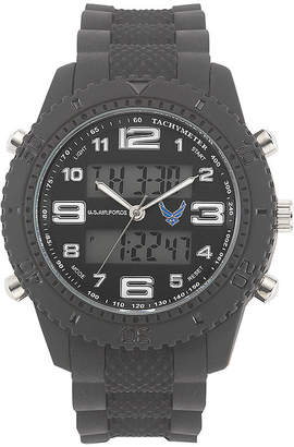 JCPenney WRIST ARMOR Wrist Armor C27 Mens US Air Force Rubber Strap Chronograph Watch