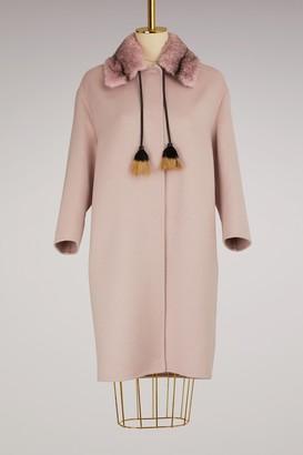 Prada Mink collar wool coat