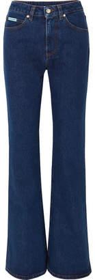 ALEXACHUNG High-rise Flared Jeans - Dark denim
