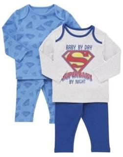 DC Comics 2 Pack of Superbaby Pyjamas
