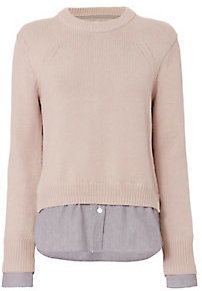 Brochu Walker Ashland Layered Pullover Sweater $368 thestylecure.com