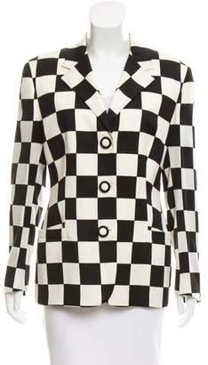 Gianni Versace Checkered Notch-Lapel Blazer