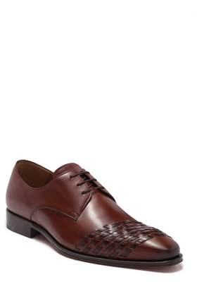 Mezlan Woven Accent Leather Derby