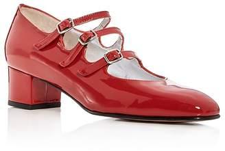 Carel Women's Kina Patent Leather Mary Jane Block Heel Pumps