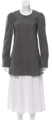 Marni Long Sleeve Ruched Tunic Green Long Sleeve Ruched Tunic