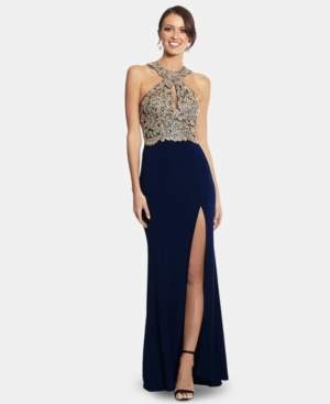 Xscape Evenings Petite Embellished Halter Gown