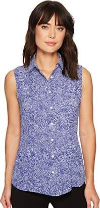 Anne Klein Women's Sleeveless Peter PAN Collar Blouse