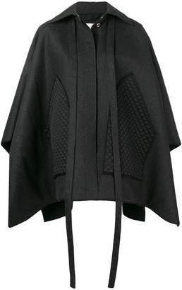 Nina Ricci (ニナ リッチ) - Nina Ricci contrast cape coat
