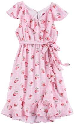Disney D Signed Disney D-Signed Girls 7-16 Floral Wrap Dress
