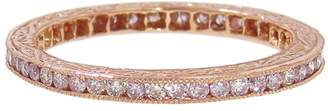 Couture Sethi Channel Set Pink Diamond Ring - Rose Gold