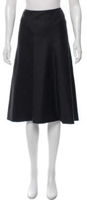 Les Copains Pinstripe Knee-Length Skirt w/ Tags Grey Pinstripe Knee-Length Skirt w/ Tags