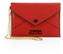 Miu MiuMiu Miu Leather Forever Envelope Chain Pouch