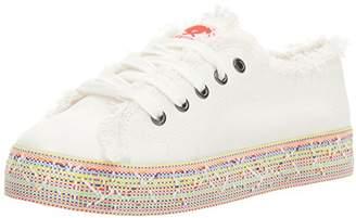 Rocket Dog Women's Madox Canvas Cotton/Rainbow Road Webbing Fashion Sneaker