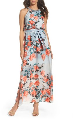 Women's Adrianna Papell Beaded Chiffon Maxi Dress $150 thestylecure.com
