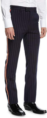 Calvin Klein Men's Striped Cavalry Twill Marching Band Pants