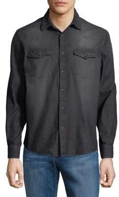 Black & Brown Black Brown Western Denim Button-Down Shirt