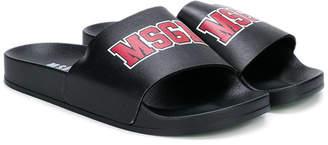 MSGM logo pool slides