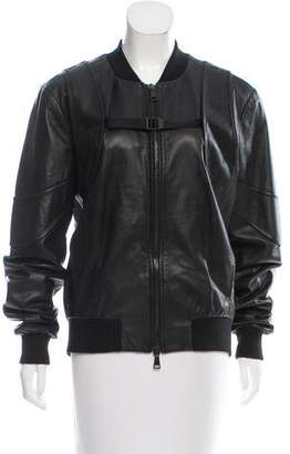 Marcelo Burlon County of Milan Casual Leather Jacket