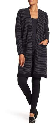 Magaschoni M BY Textured Cashmere Striped Duster