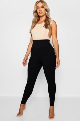boohoo Plus High Waist Sculpt Leggings